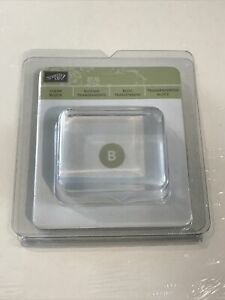 """Stampin' Up! Clear Acrylic Block Size B 1 5/8"""" x 1 15/16 x 3/4"""" NEW"""