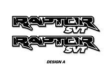 "Ford F150 48"" x 9.5"" RAPTOR SVT Truck Bed Graphic Decal Stickers 09-16 BLACK"