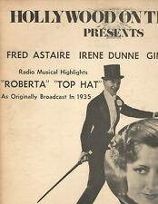 Hollywood On The Air Presents Fred Astaire Irene Dunne Ginger Rogers Roberta Top