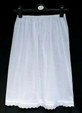 """New White Underskirt Size 12-16 XL Half Slip Cotton Rich Petticoat 27"""" Waistslip"""