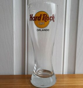 Hard Rock Cafe Orlando Pint Glass VGC FAST POSTAGE Collectable Man Cave