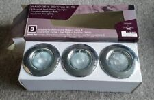 3 x Halogen Downlights GU10 including Bulbs