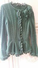 Limited Edition Green Oscar de la Renta 100% Sweater- Retail $ 2.5k