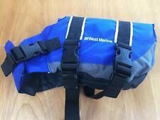 "West Marine Pet Flotation Device PFD Safety Vest Blue Life Jacket NEW 12"" Long"