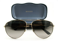 New Gucci Sunglasses GG0137S Gold Brown 001 Authentic
