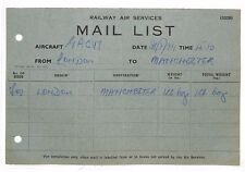 BG25 1934 RAILWAY AIR SERVICES Mail List