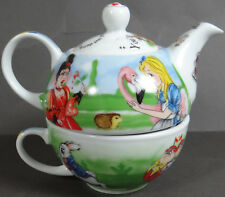 Paul Cardew Teapot Alice in Wonderland Tea For One Cup 150th Anniversary Mint