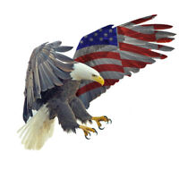 Bald Eagle USA American Flag Sticker Car Truck Laptop Window Decal Bumper Cooler