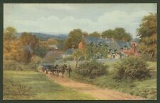 A.R.Quinton. Emery Down, The New Forest- Artist Drawn Oil Effect Postcard