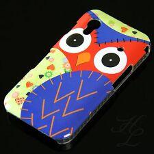 Samsung Galaxy ACE S5830 Hard Handy Case Schutz Hülle Etui Eule Blau Owl Schale