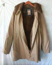 Mighty Mac Handsome outerwear coat Jacket front zip up khaki Tan Color 44 Large