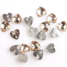 400x 24951 Popular Faceted Light Yellow Heart Resin Sew-on Button Embellishment