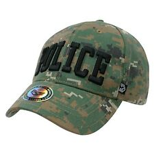 Police Officer Camo Camouflage Woodland Patrol Baseball Ball Cap Caps Hat Hats