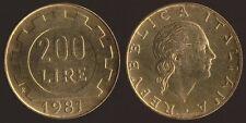 200 LIRE 1981 ITALIA FDC FIOR DI CONIO