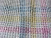 Cross Stitch Fabric Lot of 2 Tubes Pastels Charles Craft Corner block 14Ct 15x15
