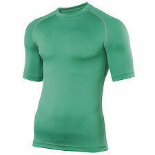 Mens Gents Rhino Baselayer Top Adult Short Sleeve Sports Compression Top