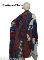 ALEXANDER McQUEEN UNION JACK WRAPPED PIN SKULL SCARFPASHMINA LARGE VERY RARE