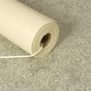 AISLE RUNNER 100ft x 3ft VINTAGE ELEGANT SWIRL DESIGN NEW