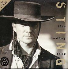 "STING ""THIS COWBOY SONG"" RARE SPANISH PROMO CD SINGLE / PATO BANTON - THE POLICE"