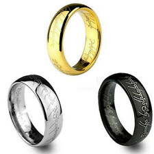 SAURON FRODO GOLLUM ANELLO NERO THE LORD OF THE RINGS ARGENTO ORO ACCIAIO ar