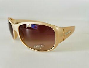 New Prada Sunglasses SPR12F 3BQ 6S1 in Pearl with Rose Lenses Rare Chic