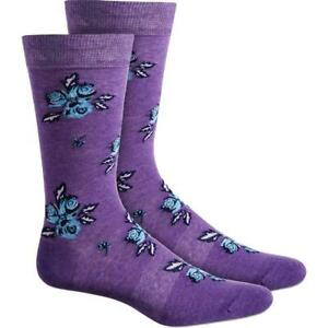 Bar III Men's Floral Arch Support Crew Socks Size 7-12 (2 Pairs)