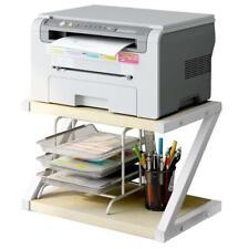 2 Tiers Stand Business Office School Table Desktop Printer Storage Shelves