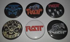 6 RATT pin button badges 25mm Body Talk Round and Round out of the Cellar