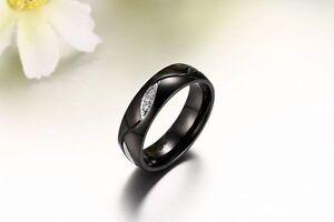 1 Edelstahl Verlobungsring Partnerring Trauringe Freundschaftsring Schwarz