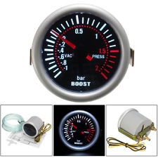 Car 2'' 52mm Universal LED Digital Smoke Len 12V Turbo Boost Bar Gauge Meter