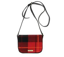 NWT Kate Spade Newbury Lane Plaid Carsen Crossbody Bag WKRU3962 Plaidred $159