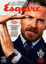 Esquire Magazine December 2016 January 2017 MICHAEL FASSBENDER, Russian Hacking