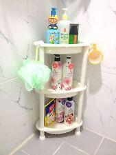 3Layers Corner Shelf Stand Shampoo Storage Rack for Bathroom, Made in Korea