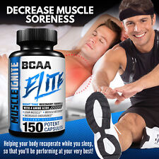 BCAA Amino Acids Supplements - Optimum Workout Muscle Recovery Energy Formula