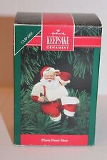 "Hallmark ""Please Pause Here"" 1992 Coca-Cola Santa Clip-On Christmas Ornament"