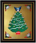 George Rodrigue Original Blue Dog Color Silkscreen Tree Toper Hand Signed Art