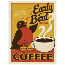 Early Bird Coffee Decal 26 x 34 Peel and Stick Kitchen Decor