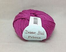 Debbie Bliss PRIMA - color PLUM - Exquisite Wool & Bamboo - Very Soft
