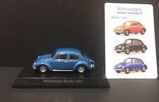 Kyosho 1/64 Volkswagen 2 Assembled Diecast Car Model Beetle 1303 BLUE