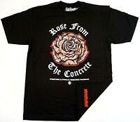 STREETWISE CONCRETE ROSE T-shirt Urban Streetwear Tee Men's L-4XL Black NWT