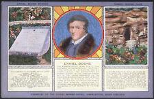 Vintage Daniel Boone Cave Charleston West Virginia Linen Finish Postcard Unused