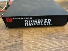 Federal Signal Rumbler Intersection Clearing System Up To 6 Units