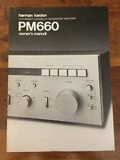 HARMAN /KARDON PM660 INTEGRATED AMPLIFIER ORIGINAL OWNER'S MANUAL P036