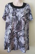 Millers Animal Print Short Sleeve Tunic Tops & Blouses for Women