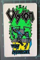 Vintage Vision skateboard Tom Groholski - ROBOT sticker - White / Green