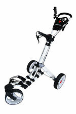 Founders Club Swerve 360 Swivel Qwik Fold 3 Wheel Golf Push Cart Trolley White o