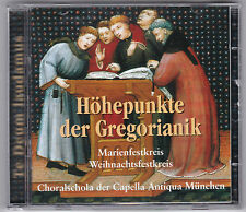HÖHEPUNKTE DER GREGORIANIK - MARIENFESTKREIS/WEIHNACHTSFESTKREIS  2 CD MPS 1974