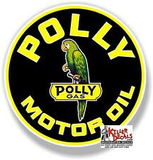 """(POLLY-6) 6"""" ROUND POLLY MOTOR OIL DECAL LUBSTER LUBESTER GASOLINE PUMP STICKER"""