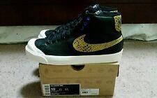 Nike X Stussy All Court Mid Snake skin Premium sz 10 RARE! Blazer Supreme