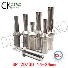 WC/SP/WD-2D 3D Diameter 14-24mm indexable CNC U Drill drilling processing tools